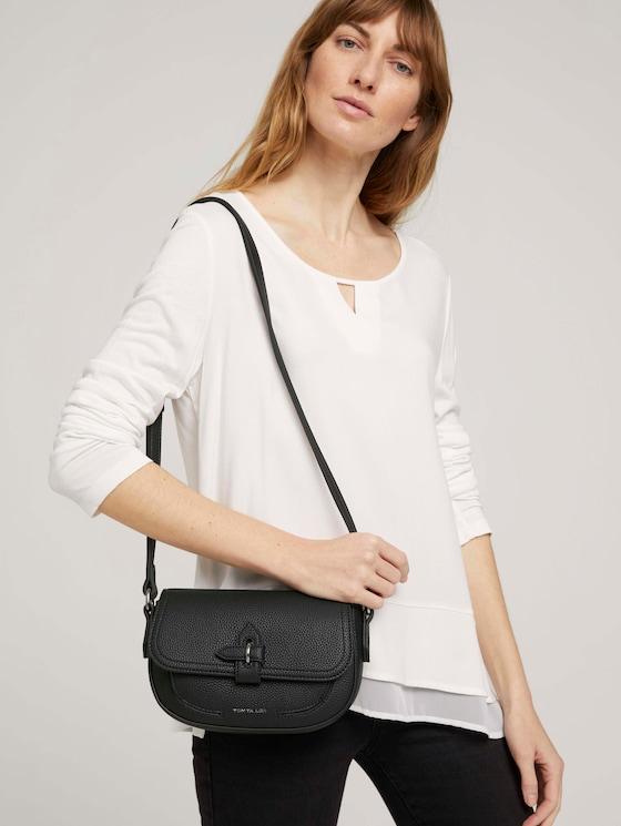 Jasmin Baguette Tasche mit Dekoverschluss - Frauen - schwarz / black - 5 - TOM TAILOR