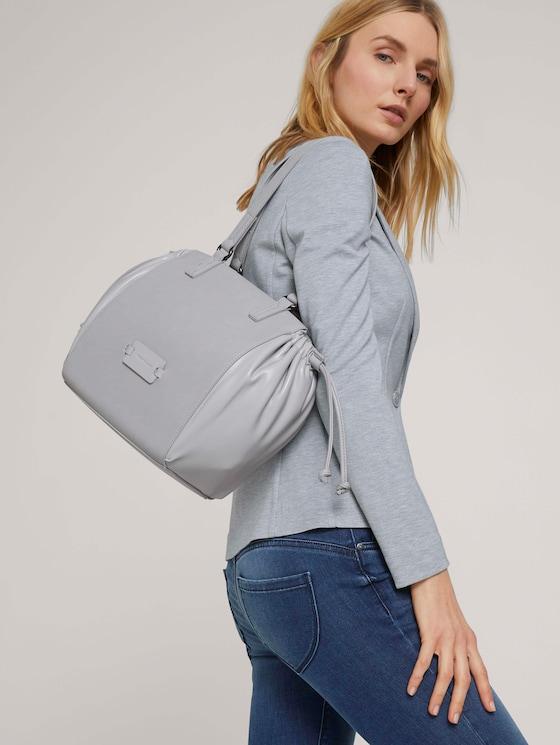 Nathalie Shopper mit Tunnelzug - Frauen - light grey - 5 - TOM TAILOR