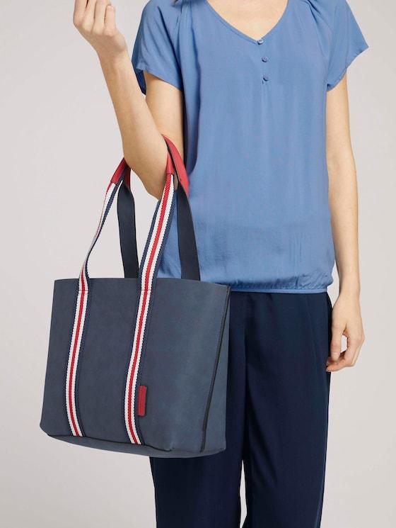 Danja Shopper mit Farbakzent - Frauen - dark blue - 5 - TOM TAILOR