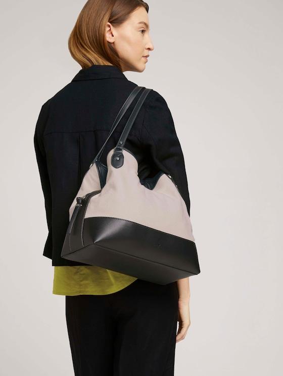 Ines Shopper mit Lederdetails - Frauen - mixed black - 5 - TOM TAILOR