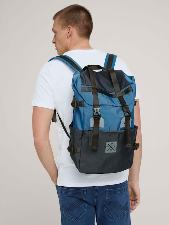 Stuart Nylon Rucksack - Männer - mixed blue - 5 - TOM TAILOR