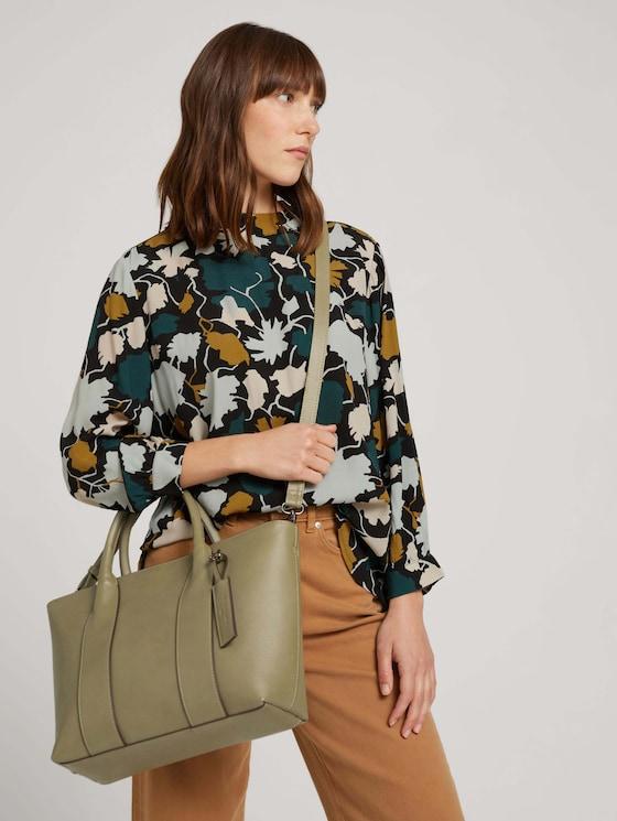 Kalea medium shopper with a strap - Women - sage - 5 - TOM TAILOR