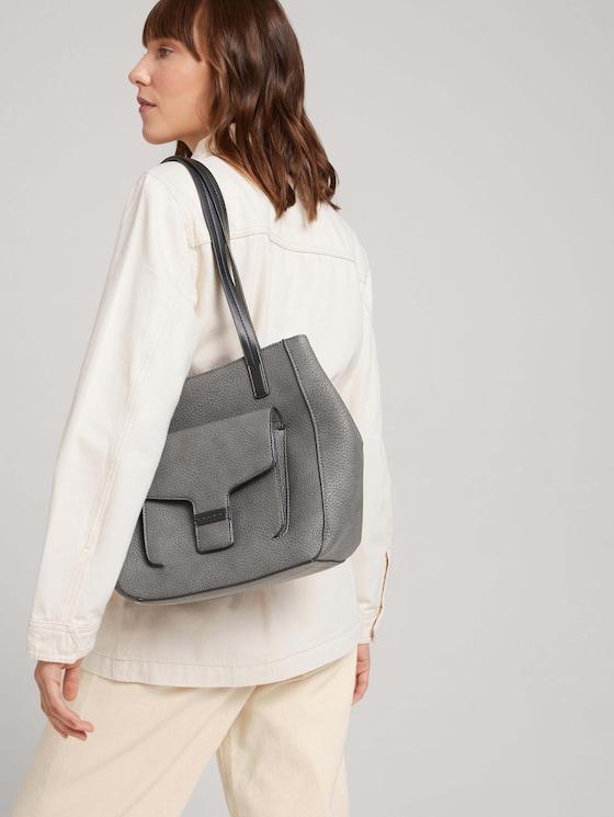 Moana suede shopper - Women - dark grey - 5 - TOM TAILOR