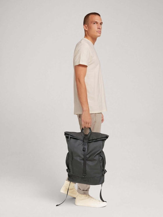 Bastian large backpack - Men - schwarz / black - 5 - TOM TAILOR