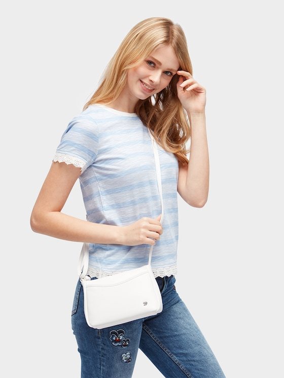 kleine Umhängetasche aus Leder-Imitat - Frauen - white - 5 - TOM TAILOR Denim