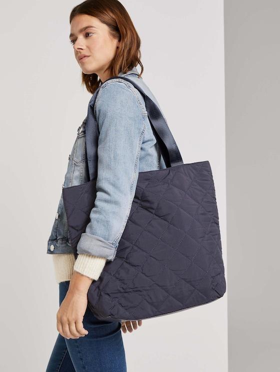 Fanna Gesteppter Shopper - Frauen - dark blue - 5 - TOM TAILOR Denim