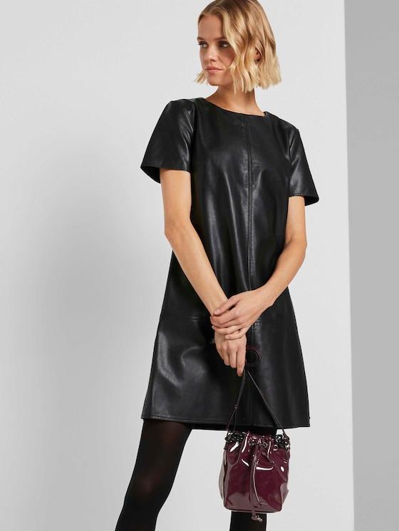 Ivy vinyl pouch bag - Women - patent wine - 5 - TOM TAILOR Denim