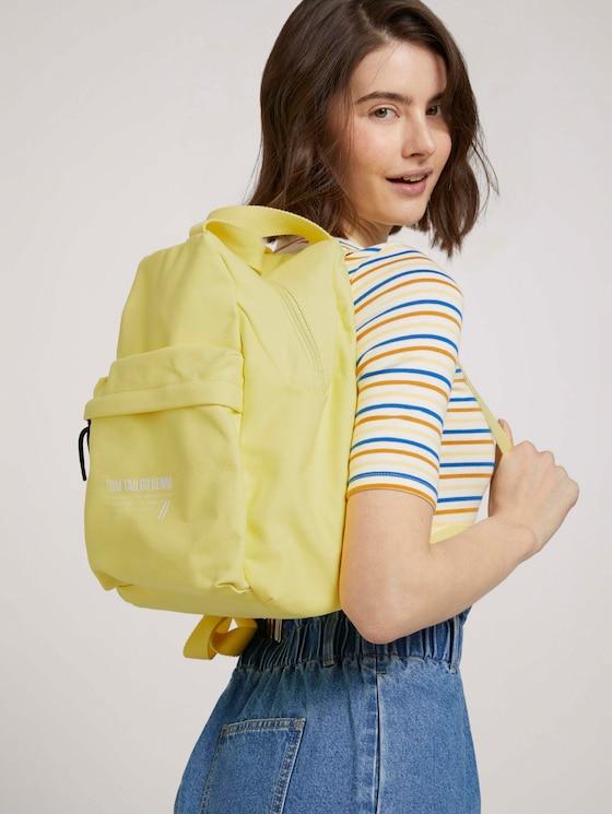 Lia Rucksack mit gewebtem Gurt - Frauen - gelb / yellow - 5 - TOM TAILOR Denim