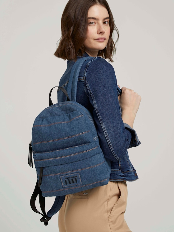 Feline Jeans Rucksack - Frauen - denim blue - 5 - TOM TAILOR Denim
