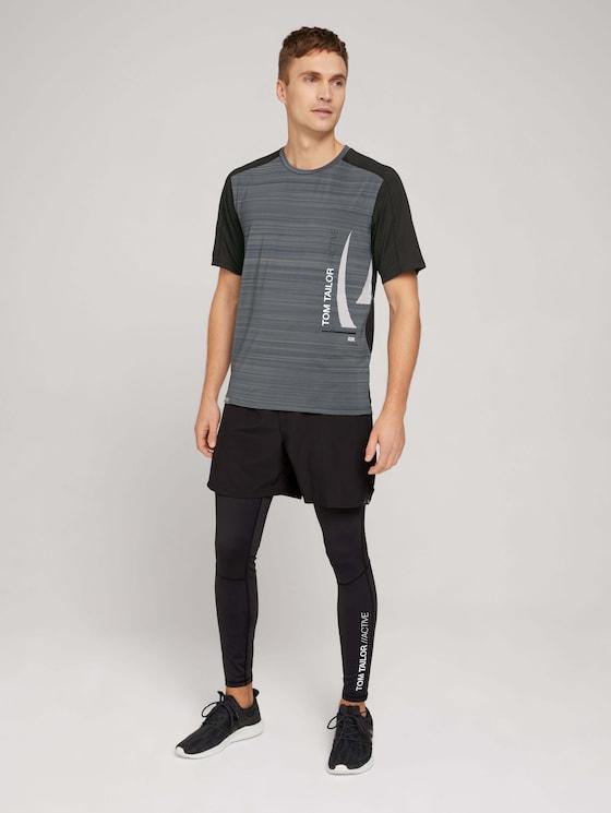 Running leggings with a logo print - Men - black - 3 - Tom Tailor E-Shop Kollektion