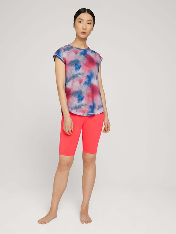 Shorts with a logo print - Women - neonpink - 3 - Tom Tailor E-Shop Kollektion
