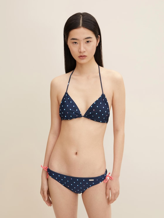 Gemustertes Bikini-Top - Frauen - dress blue - 1 - TOM TAILOR