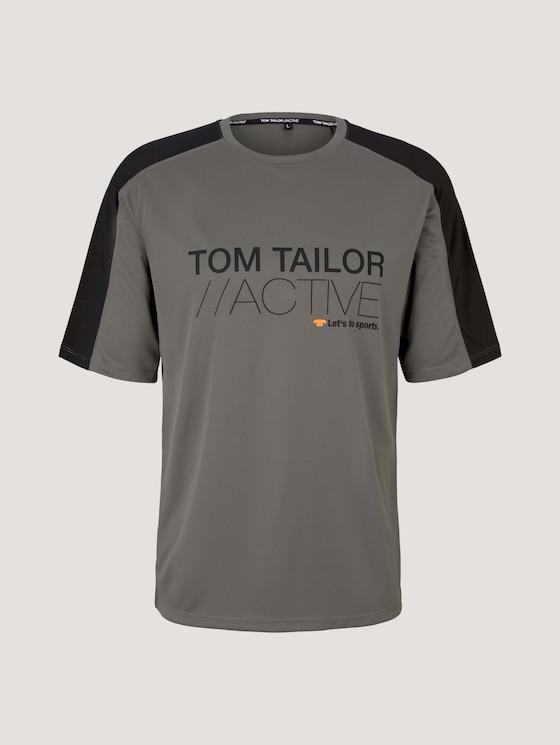 Functional t-shirt - Men - khaki-black - 7 - Tom Tailor E-Shop Kollektion