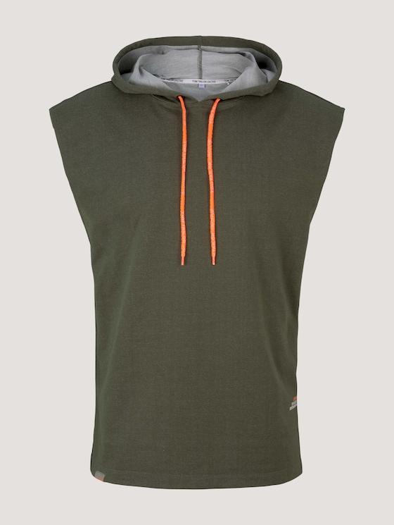 Sleeveless sweatshirt with a hood - Men - olive - 7 - Tom Tailor E-Shop Kollektion