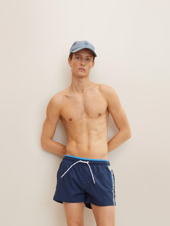 Badehose mit Print - Männer - dress blue - 5 - TOM TAILOR