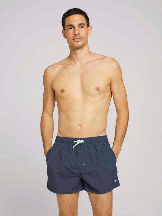 Badeshorts mit Reißverschlusstaschen - Männer - dress blue - 5 - TOM TAILOR