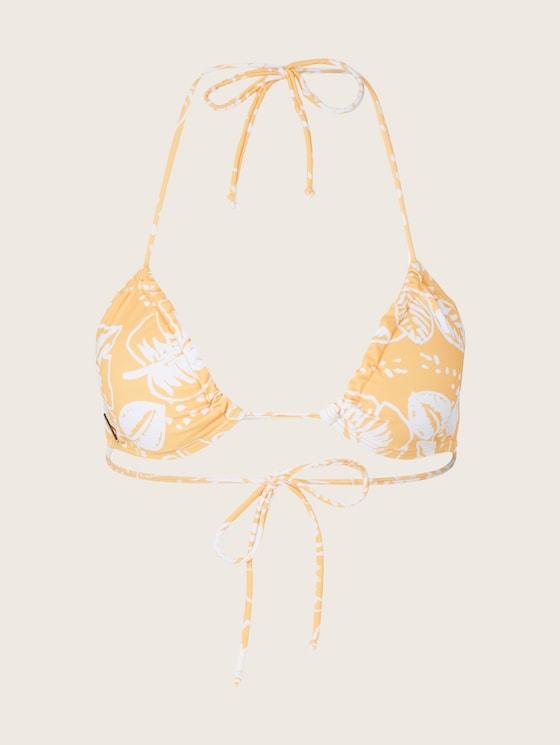Triangle Bikinitop mit Print - Frauen - Marigold AOP - 7 - TOM TAILOR