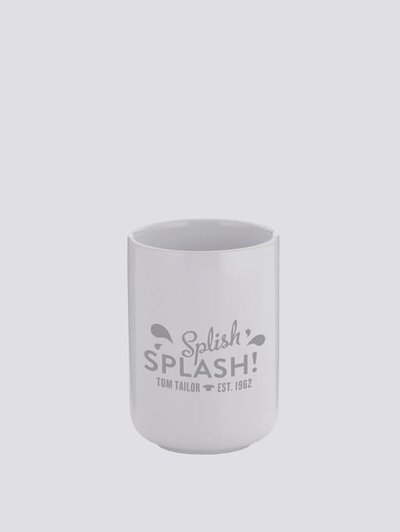 Zahnputzbecher Splish Splash - unisex - shiny white - 7 - TOM TAILOR