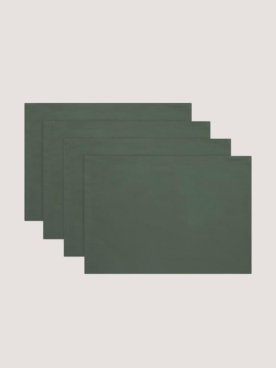 Tischsets im 6er-Pack - unisex - bottel-green - 7 - TOM TAILOR