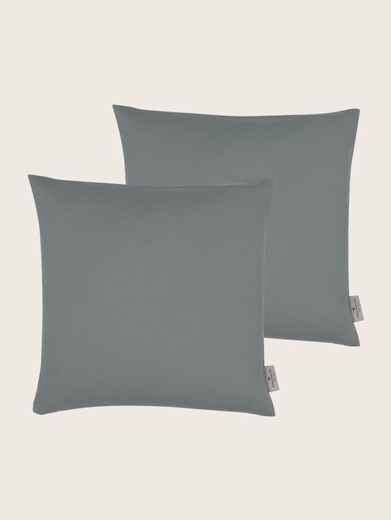 Basic Kissenhülle aus Baumwolle - unisex - grey - 7 - TOM TAILOR