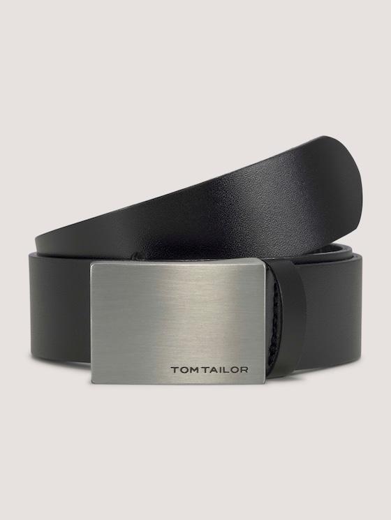 Klassischer Ledergürtel - unisex - black uni - 7 - TOM TAILOR