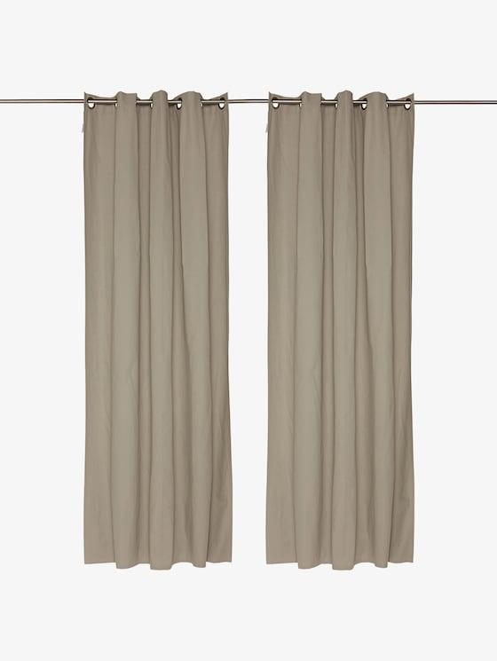 Vorhang mit feiner Struktur - unisex - grey - 1 - TOM TAILOR