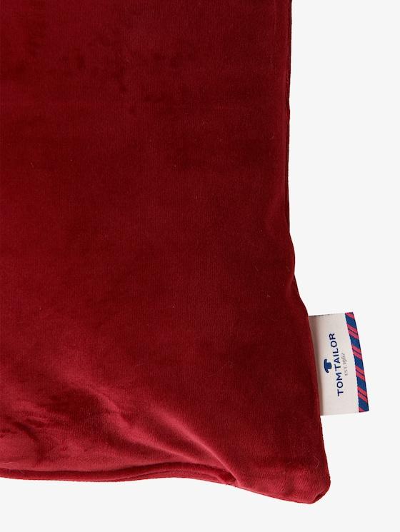 Kussenovertrek van fluweel - uniseks - burgundy - 3 - TOM TAILOR