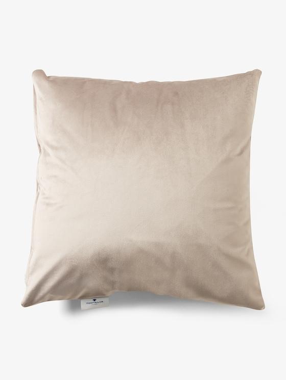 Kissenhülle aus Samt - unisex - sand - 7 - TOM TAILOR