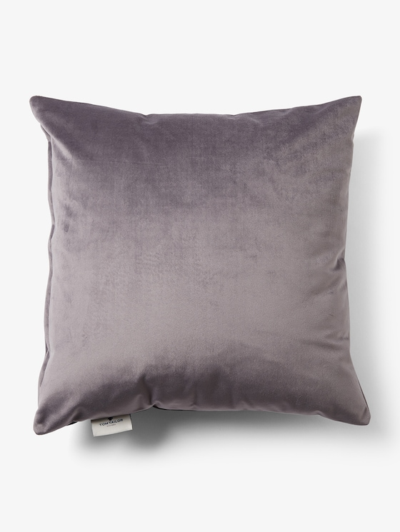 Cushion cover made of velvet - unisex - grey - 7 - TOM TAILOR