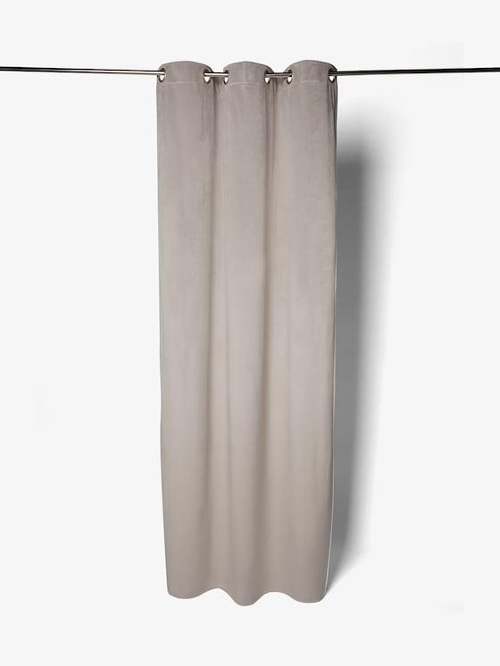 Vorhang in Samt-Optik - unisex - lt.grey - 7 - TOM TAILOR