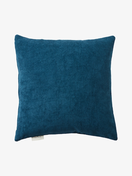 Cushion cover in corduroy look - unisex - petrol - 7 - TOM TAILOR