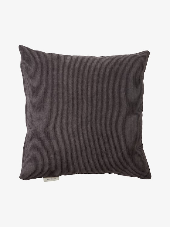 Cushion cover in corduroy look - unisex - anthracite - 7 - TOM TAILOR