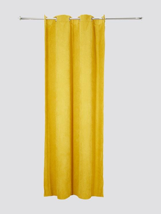 Vorhang in Cord-Optik - unisex - yellow - 7 - TOM TAILOR
