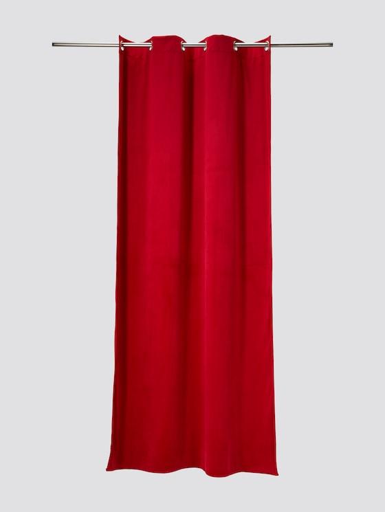 Loop shawl in velvet look - unisex - red - 7 - TOM TAILOR