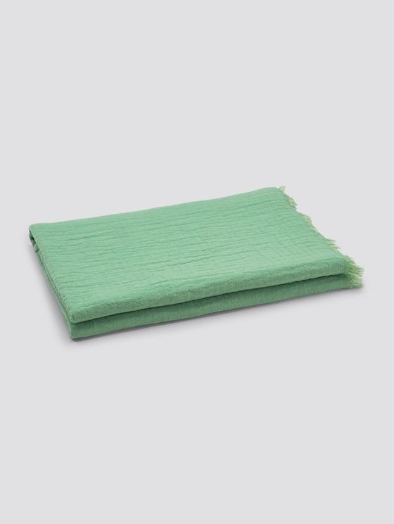 Wende-Decke mit gefranster Saumkante - unisex - green - 7 - TOM TAILOR