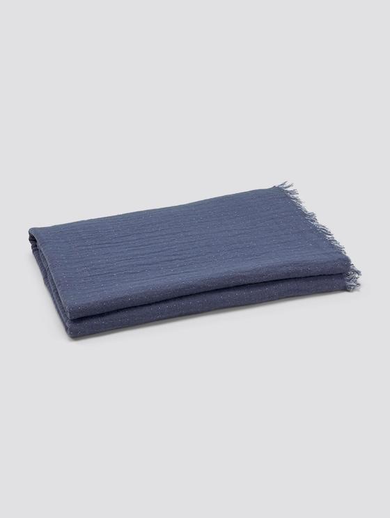 Wende-Decke mit gefranster Saumkante - unisex - blue - 7 - TOM TAILOR