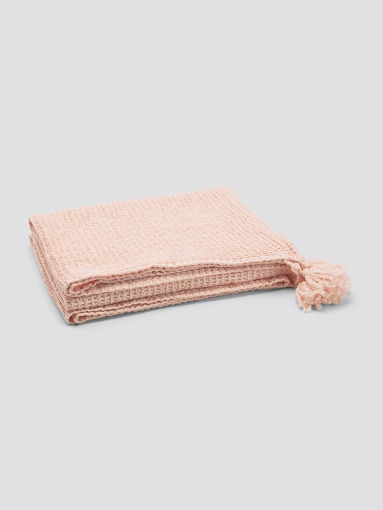 Decke mit Quasten - unisex - rose - 7 - TOM TAILOR