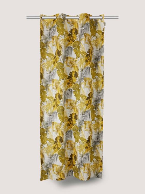 Vorhang mit Palmenprint - unisex - yellow multi - 7 - TOM TAILOR