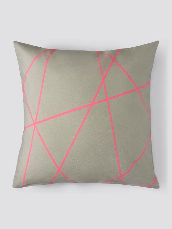 Kissenhülle mit Neon-Streifen - unisex - grey neon - 7 - TOM TAILOR