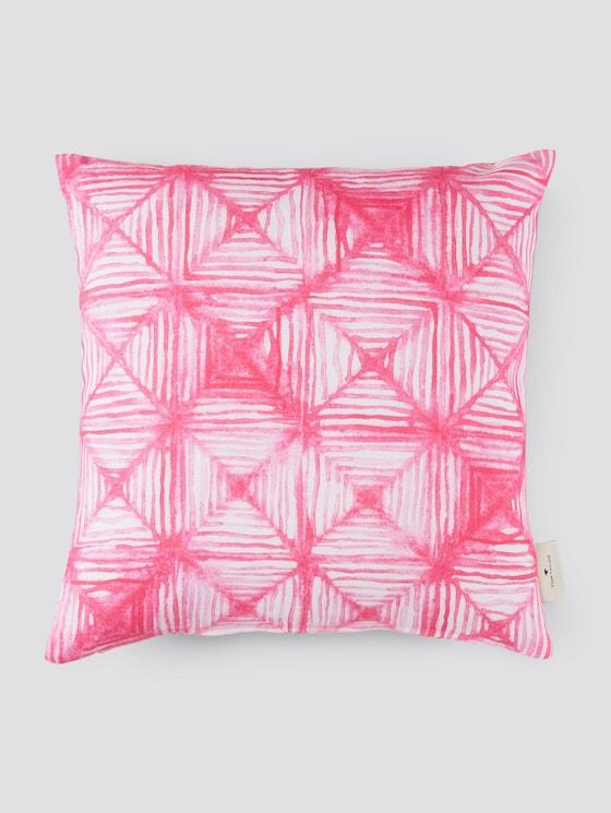 Kissenhülle mit Karomuster - unisex - pink - 7 - TOM TAILOR