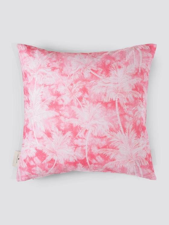 Kissenhülle mit Palmenprint - unisex - pink - 7 - TOM TAILOR
