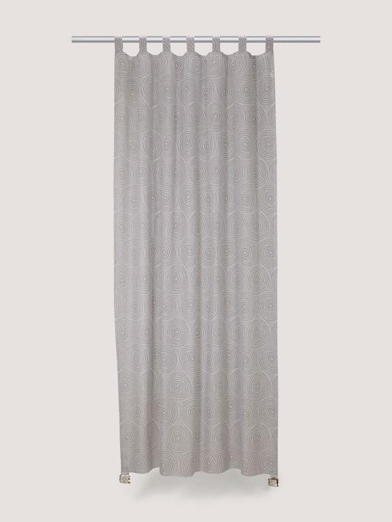 Gemusterter Vorhang mit Leinen - unisex - grey - 7 - TOM TAILOR