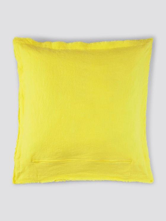 Kissenhülle aus Leinen - unisex - yellow - 7 - TOM TAILOR