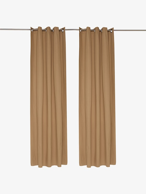 curtains with eyelet dove - unisex - ecrue - 1 - TOM TAILOR