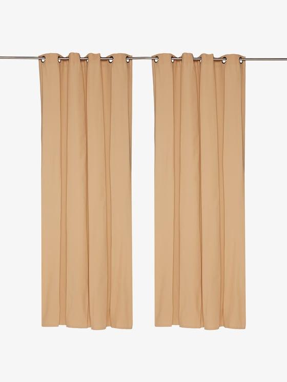 Effen sjaal met oogjes - uniseks - beige - 1 - TOM TAILOR