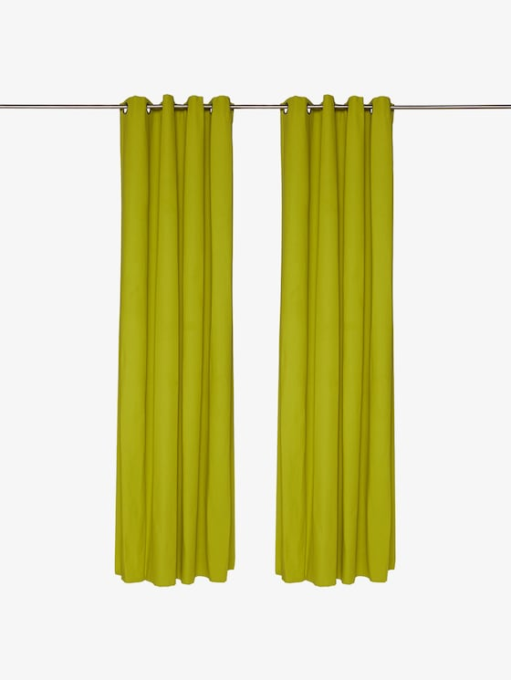 curtains with eyelet dove - unisex - green - 1 - TOM TAILOR