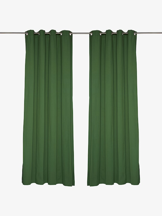 curtains with eyelet dove - unisex - dk.green - 1 - TOM TAILOR