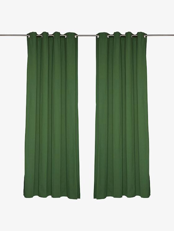Effen sjaal met oogjes - uniseks - dk.green - 1 - TOM TAILOR