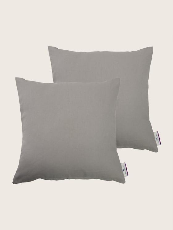 Plain coloured cushion - unisex - braun-beige / brown-beige - 7 - TOM TAILOR