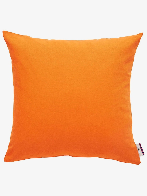 Basic kussensloop - uniseks - orange - 1 - TOM TAILOR